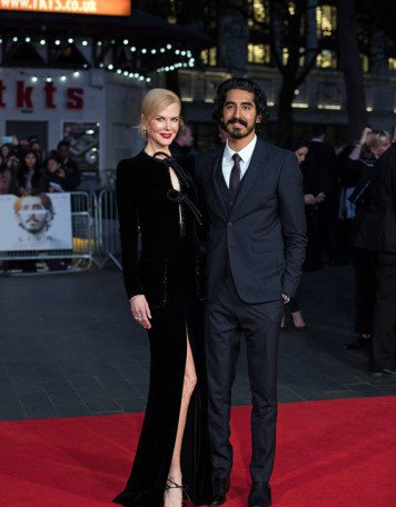 Николь Кидман и Дев Патель на красной дорожке Лондонского кинофестиваля