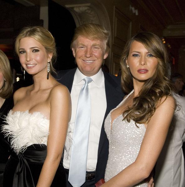 Иванка Трамп  - дочь Дональда Трампа и его жена Меланья Трамп
