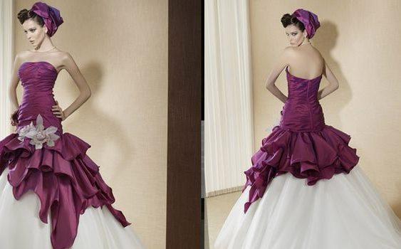 Подходит ли цветное свадебное платье невесте2