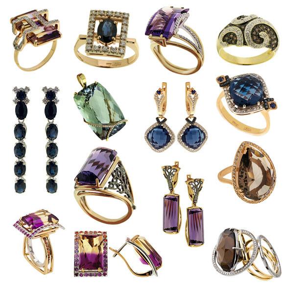 Современные ювелирные украшения разнообразие форм и материалов 2