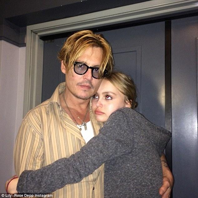 Джонни Депп с дочерью Лили-Роуз