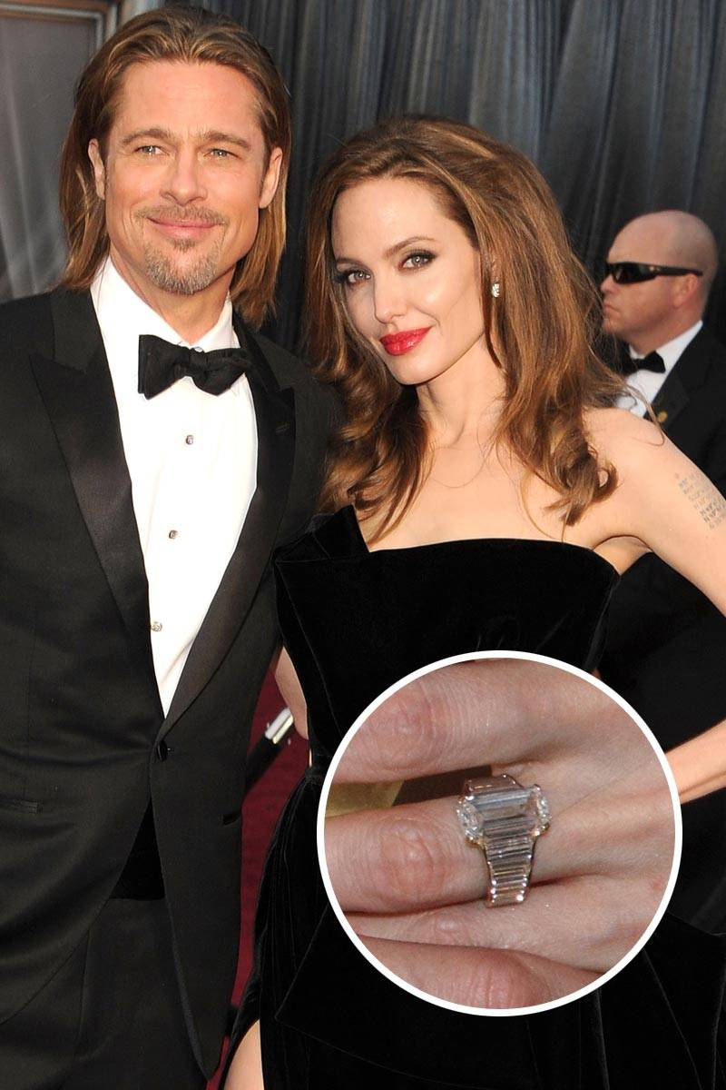 Брэд Питт год работал над дизайном кольца для Анджелины Джоли